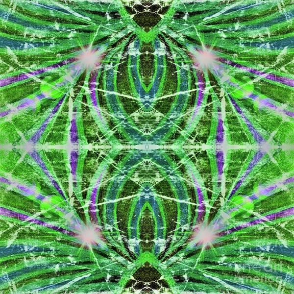 Painting - Geo Flash Green by Rachel Hannah