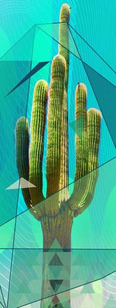 Mixed Media - Geo Saguaro by Michelle Dallocchio