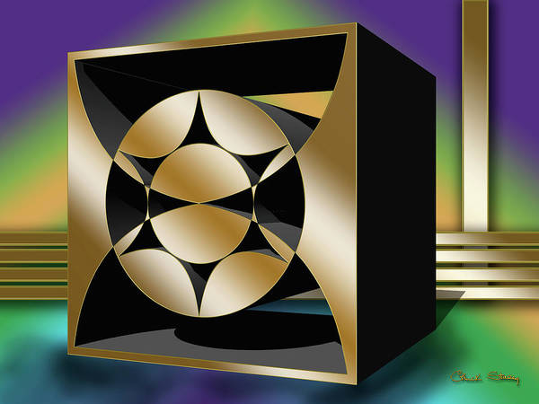 Digital Art - Geo Square 1 3 D by Chuck Staley