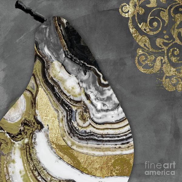 Wall Art - Painting - Geode Pear by Mindy Sommers