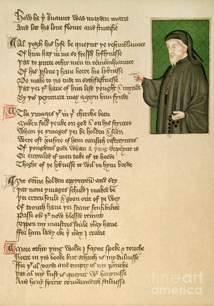 Photograph - Geoffrey Chaucer by Granger