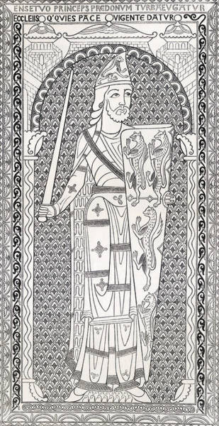 Handsome Drawing - Geoffrey V, First Of The Plantagenets by Vintage Design Pics
