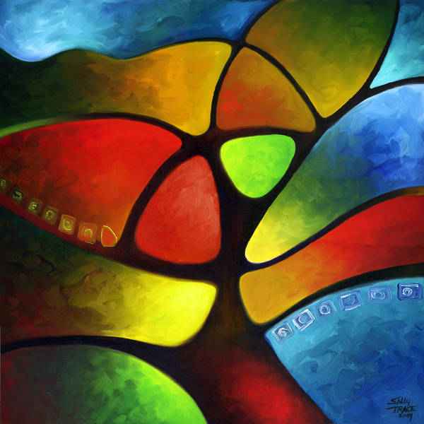 Painting - Geometree by Sally Trace