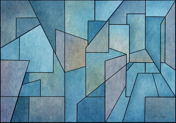 Digital Art - Geometric Abstraction IIi by David Gordon
