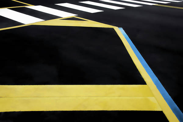Photograph - Geometric Combination Of Traffic Lines by Gary Slawsky