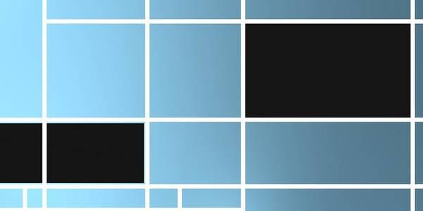 Digital Art - Geometric Composition With Black Rectangle.1 by Alberto RuiZ