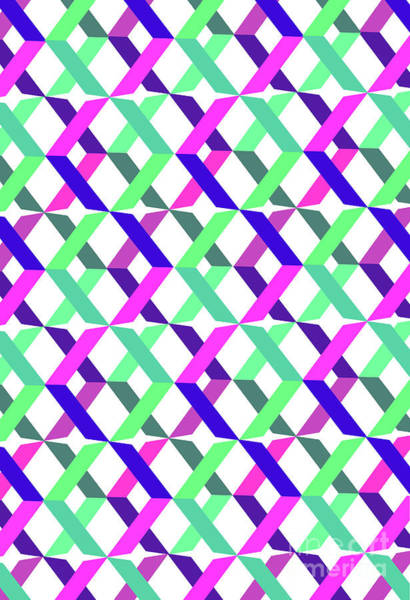 Xxx Digital Art - Geometric Crosses by Louisa Knight