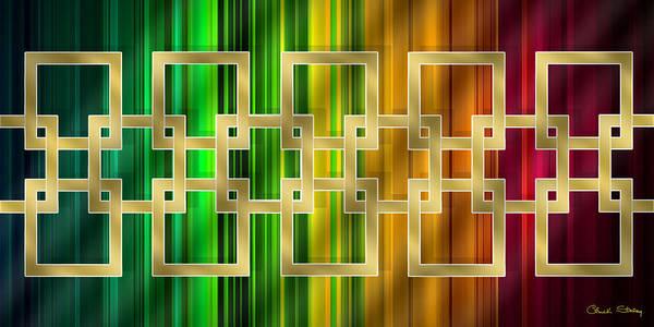 Digital Art - Geometric Design Horizontal by Chuck Staley