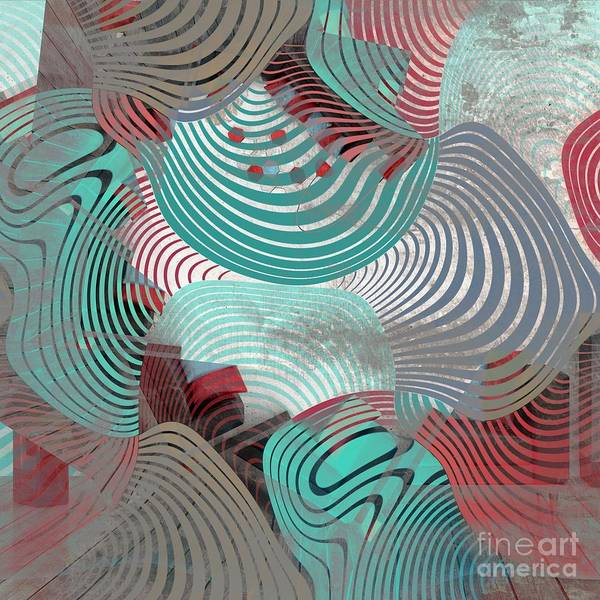 Art Form Digital Art - Geometric Gymnastic - 1010t by Variance Collections