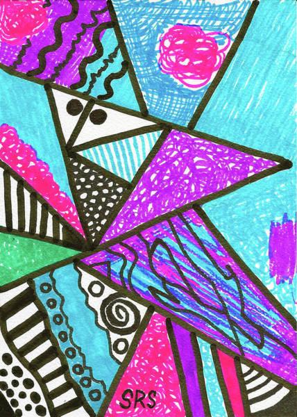 Drawing - Geometric Interior by Susan Schanerman