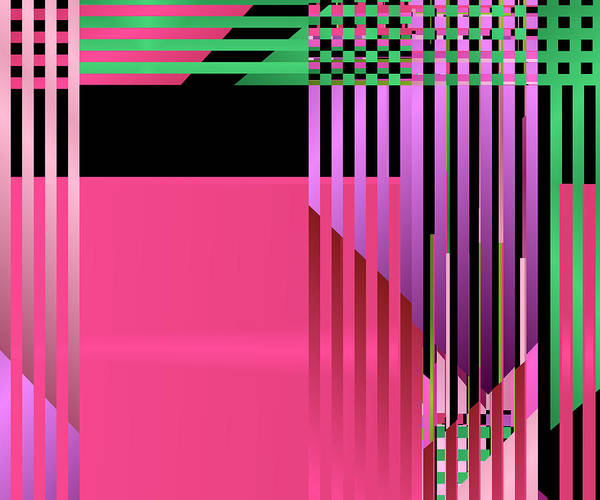 Digital Art - Geometric Lattice Abstract by Ruth Moratz