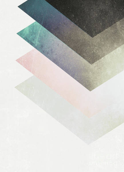 Geometric Layers Art Print