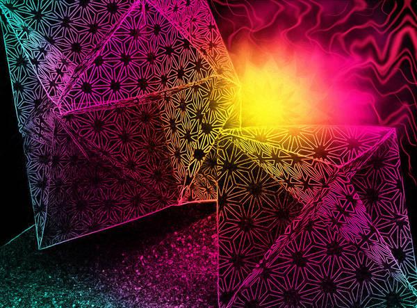Blacklight Photograph - Geometric Mystery by Shawna Rowe