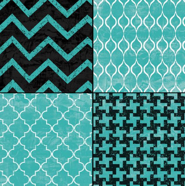 Stripe Mixed Media - Geometric Patchwork by Marilu Windvand