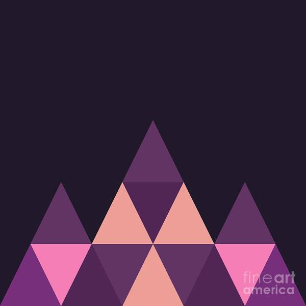 Wall Art - Digital Art - Geometric Pyramid B by Amir Faysal