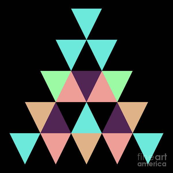 Wall Art - Digital Art - Geometric Pyramid C by Amir Faysal