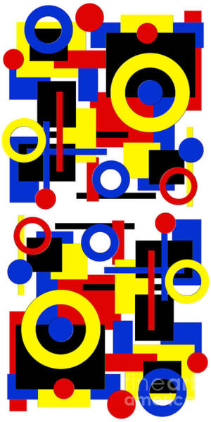 Digital Art - Geometric Shapes Abstract V 1 by Andee Design