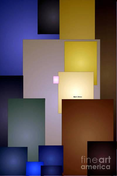 Digital Art - Geometric Squares by Rafael Salazar