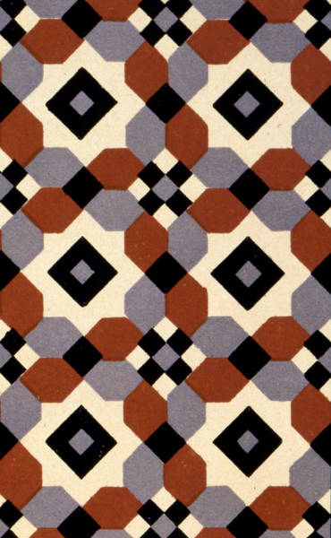 Casing Wall Art - Painting - Geometric Textile Design by English School