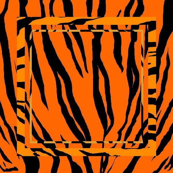Wall Art - Digital Art - Geometric Tiger Stripes by Brandi Fitzgerald