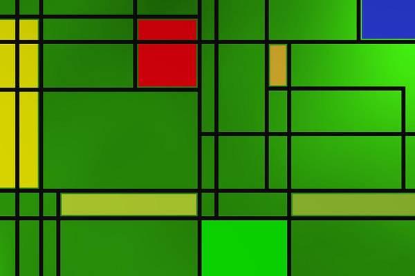 Digital Art - Geometric Tribute To Piet 2 by Alberto RuiZ