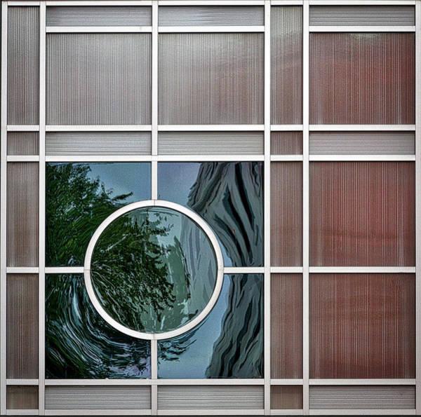 Photograph - Geometric Window Abstract by Stuart Litoff