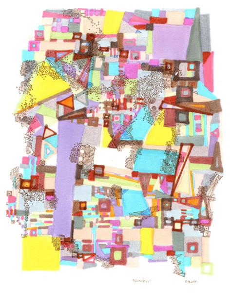 Drawing - Geometries by Regina Valluzzi