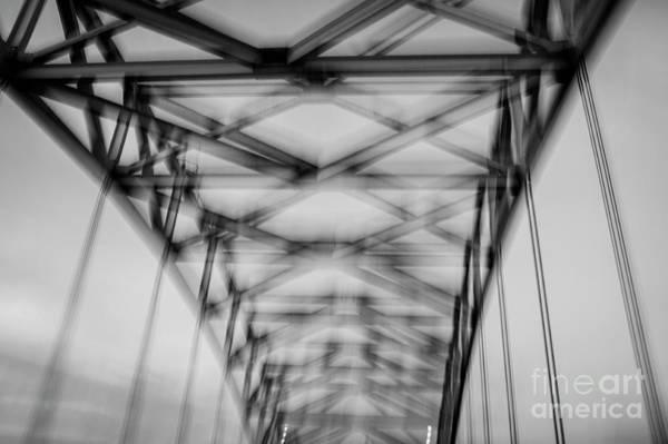 Stye Photograph - Geometry, Desmond Bridge Bw  2013 by Michael Ziegler