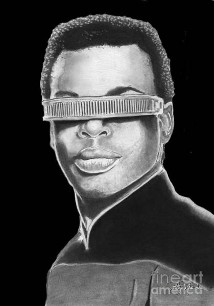Drawing - Geordi Laforge by Bill Richards