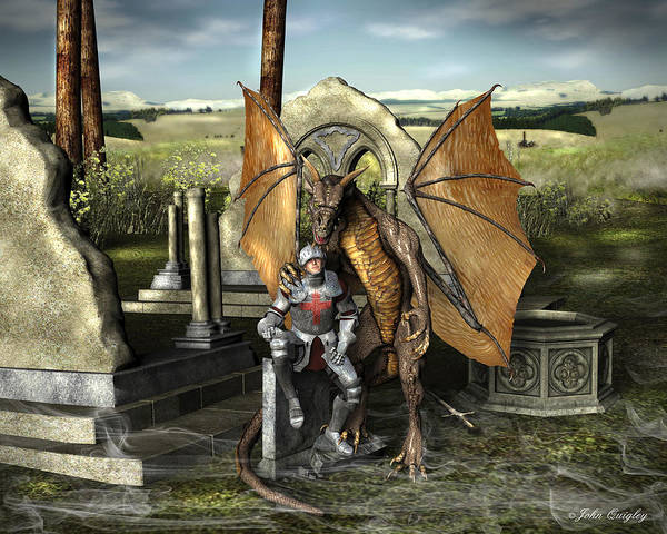George And The Dragon Art Print