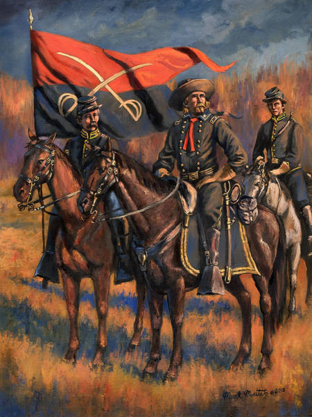 Wall Art - Painting - George Armstrong Custer by Mark Maritato