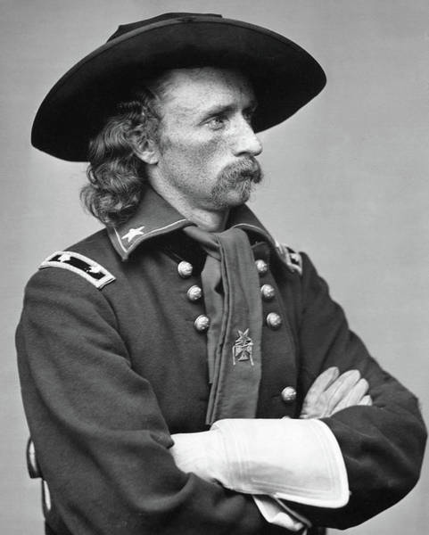 Wallpaper Mixed Media - George Armstrong Custer by Thomas Pollart