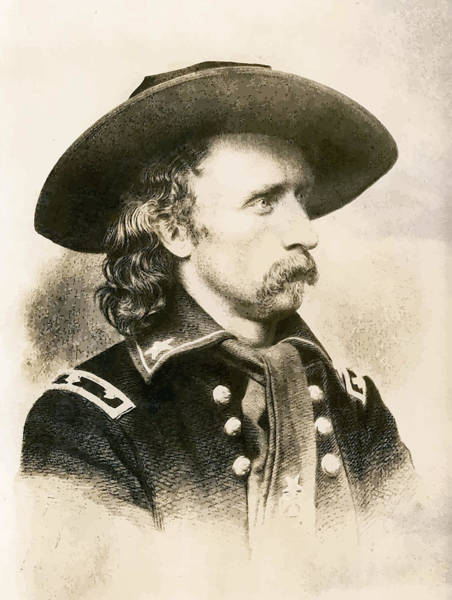 U S Painting - George Armstrong Custer  by War Is Hell Store