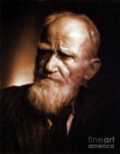 Poetry Painting - George Bernard Shaw, Literary Legend By Mary Bassett by Mary Bassett