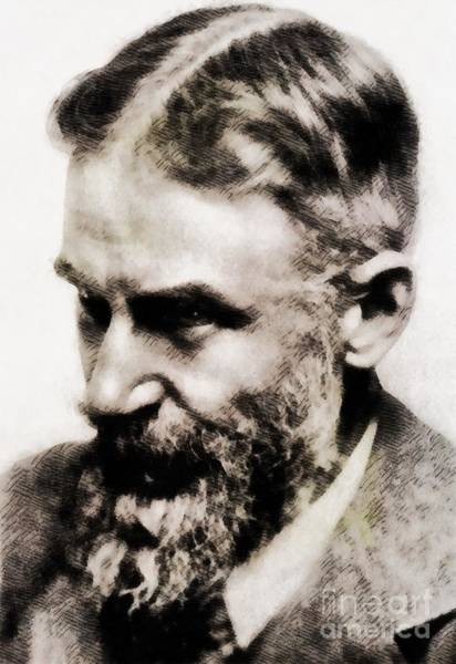 Poetry Painting - George Bernard Shaw, Literary Legend by John Springfield