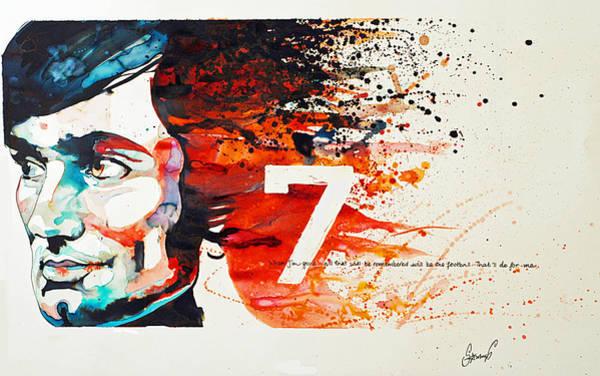 Samantha Painting - George Best by Samantha Baguley