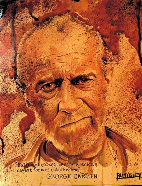 Serial Killer Painting - George Carlin Fresh Blood by Ryan Almighty