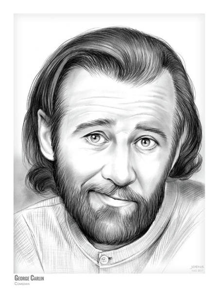Authors Wall Art - Drawing - George Carlin by Greg Joens