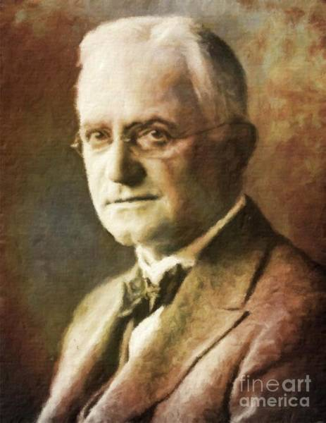 Poetry Painting - George Eastman, Entrepreneur By Mary Bassett by Mary Bassett