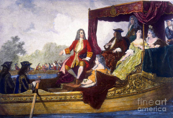 Choral Wall Art - Photograph - George Handel And King George I by Science Source