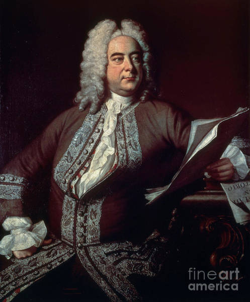 Choral Wall Art - Photograph - George Handel, German Baroque Composer by Science Source