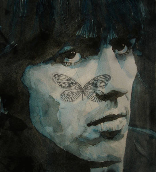 Beatle Wall Art - Painting - George Harrison @ Butterfly by Paul Lovering