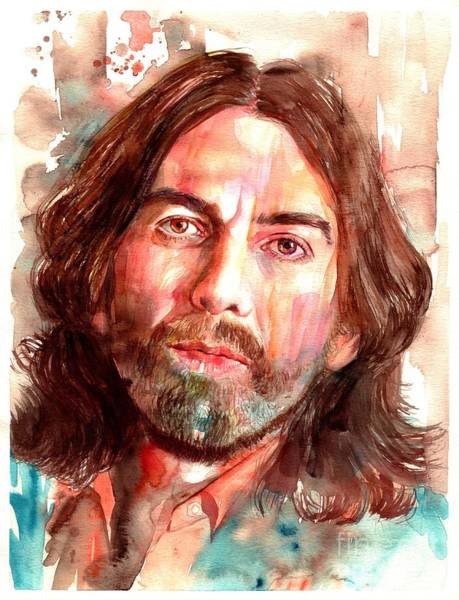 John Singer Painting - George Harrison Portrait by Suzann Sines