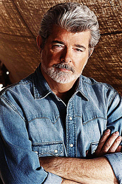 Steven Spielberg Painting - George Lucas by Queso Espinosa