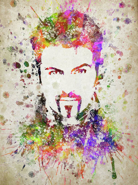 Wall Art - Digital Art - George Michael In Color by Aged Pixel