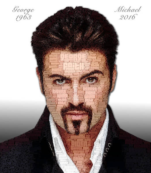 George Michael Tribute Art Print