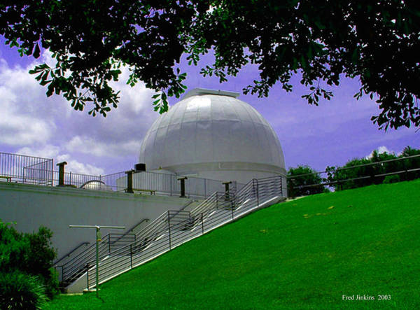 Brazos Bend State Park Painting - George Observatory by Fred Jinkins