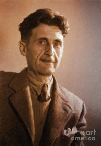 Poetry Painting - George Orwell, Literary Legend By Mary Bassett by Mary Bassett