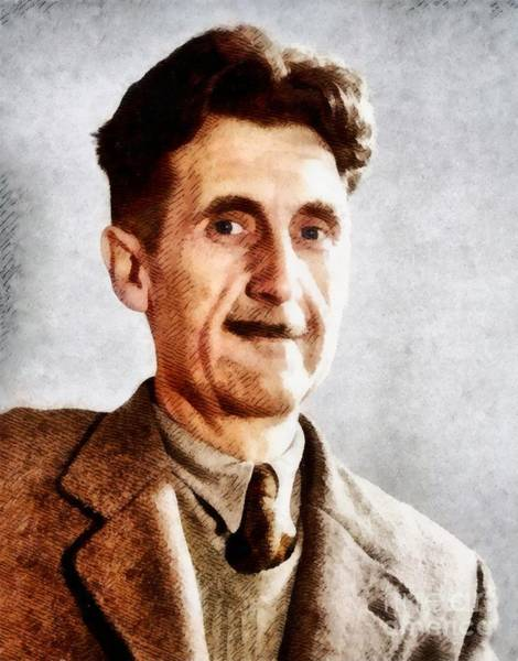 Poetry Painting - George Orwell, Literary Legend by John Springfield