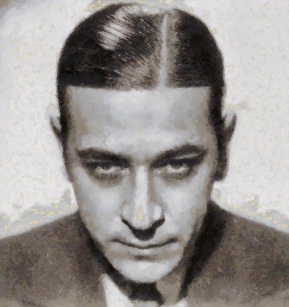 Raft Wall Art - Painting - George Raft Hollywood Actor by John Springfield
